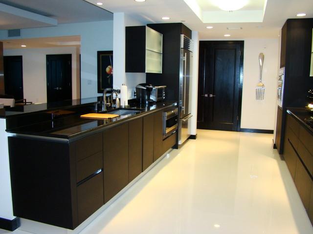 Pierre Condo Remodel, Longboat Key FL contemporary-kitchen