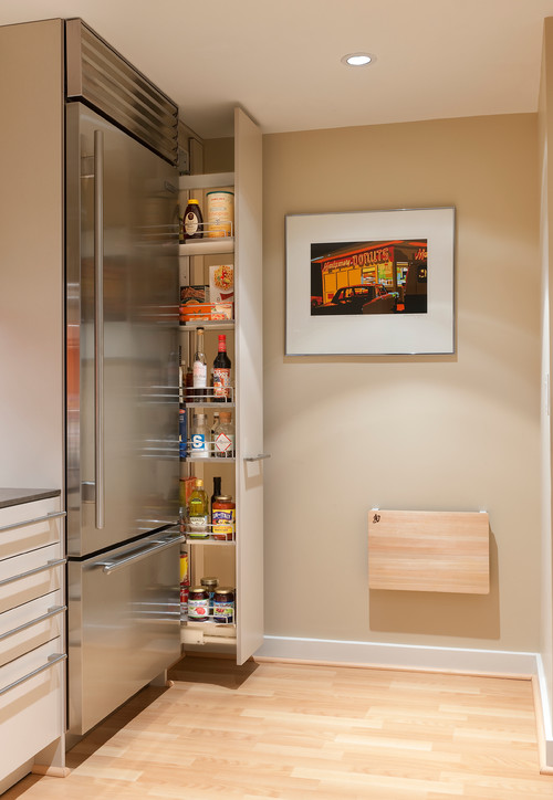 How to get the most pantry storage from a small space  Contemporary Kitchen 8 Small pantries that are big on