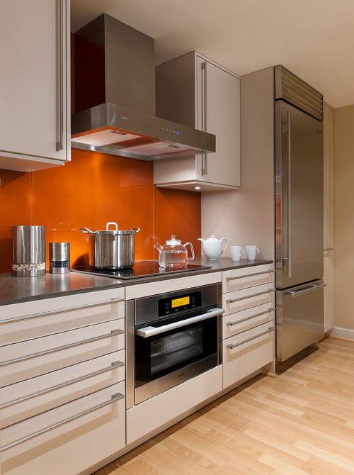 miele stainless steel appliances in kitchen