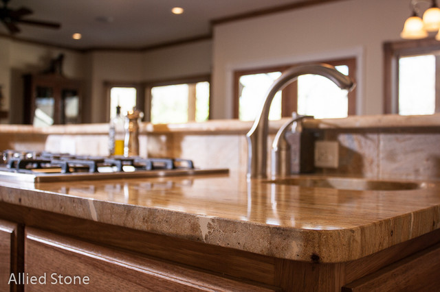kitchen counter top traditional kitchen houston by