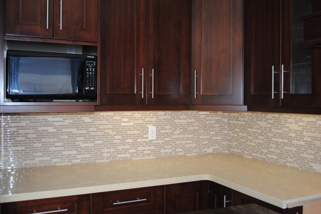 Modern Tile Kitchen Countertops kitchen countertop and backsplash - modern - kitchen - toronto