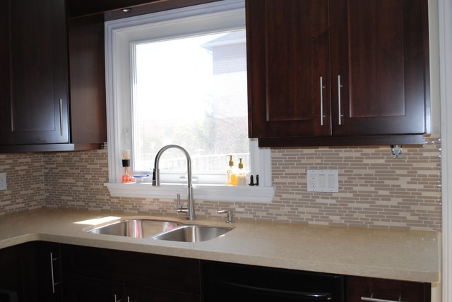 Kitchen Countertop and Backsplash - Modern - Kitchen - toronto - by Caledon Tile Bath & Kitchen ...