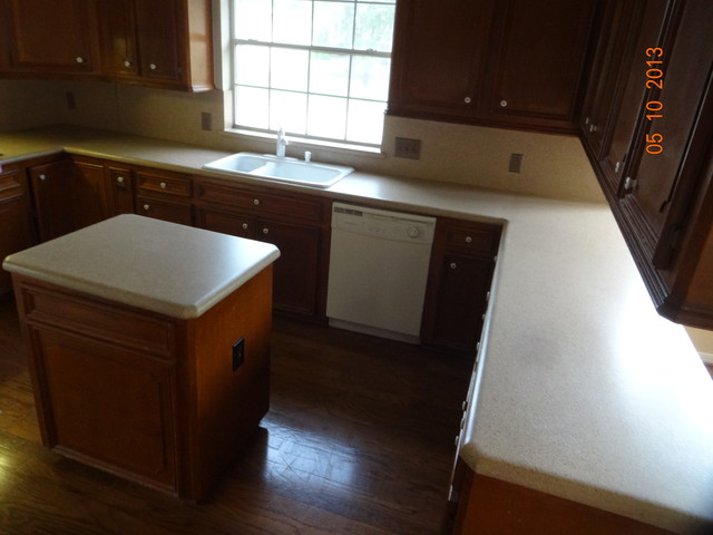 Countertop Paint Before And After : Kitchen countertops, before and after - Traditional - Kitchen ...
