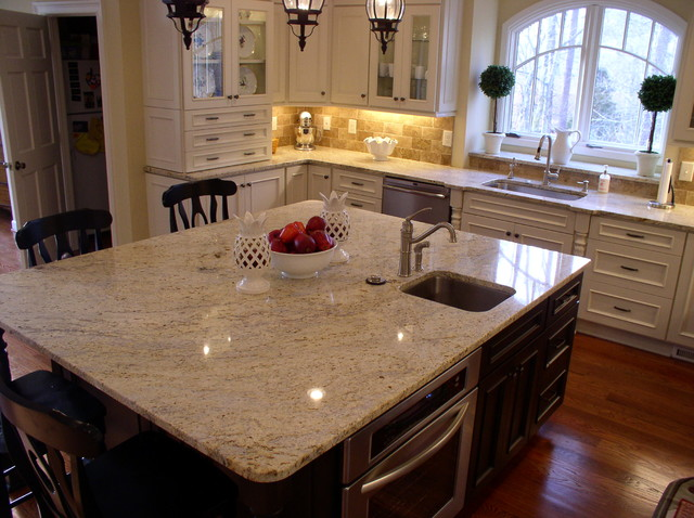 Kitchen countertops traditional kitchen atlanta by - Black granite countertops with cream cabinets ...