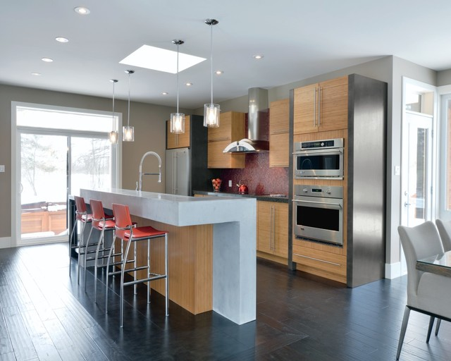 Kitchen Craft Terni Bamboo Cabinets Contemporary Kitchen Other