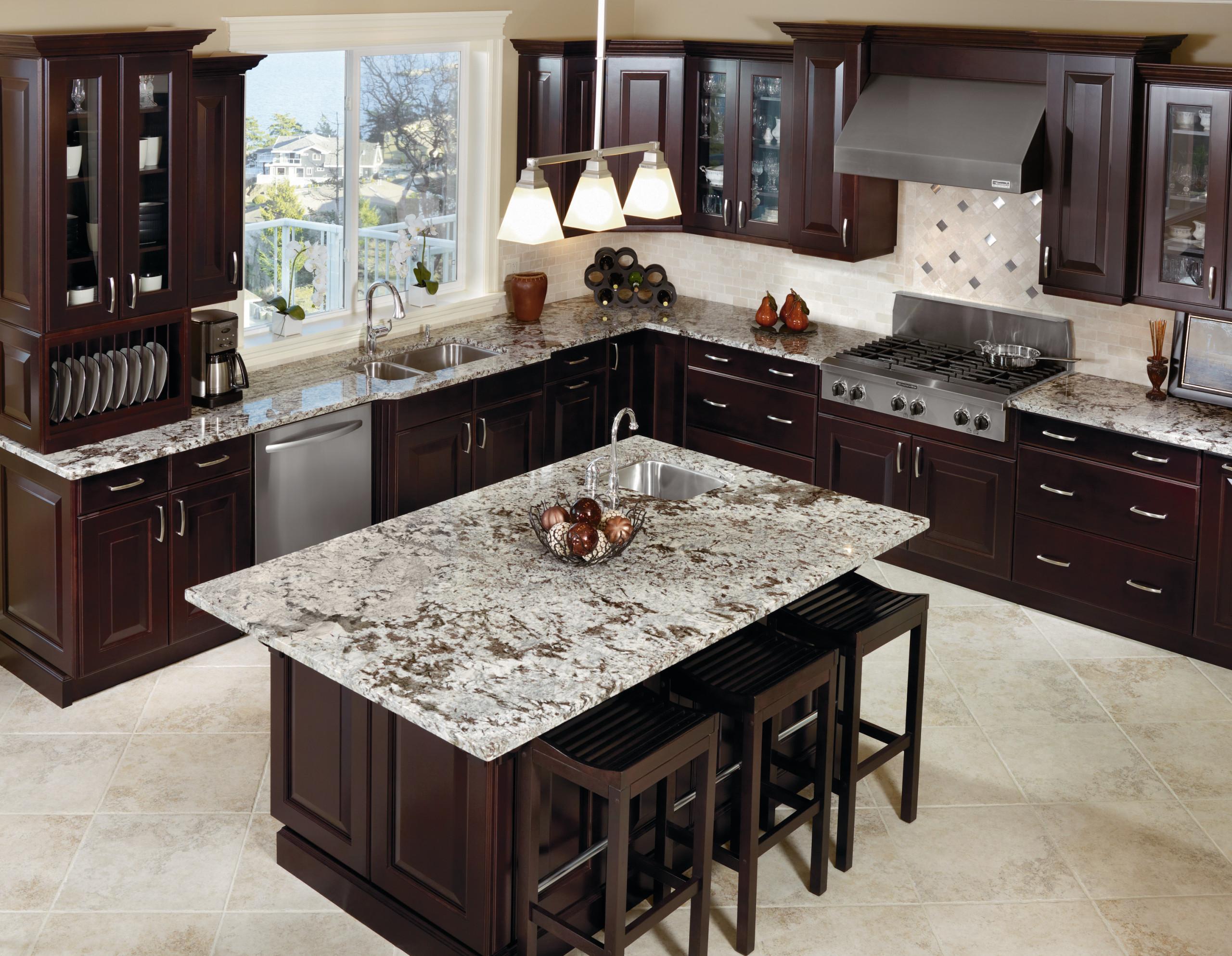Kitchen Craft Cabinetry Dark Espresso Kitchen Cabinets ...