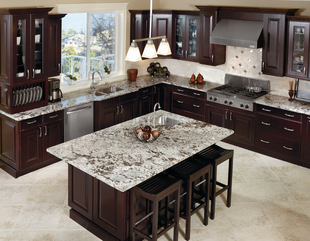 Kitchen Craft Cabinetry Dark Espresso Cabinets Traditional