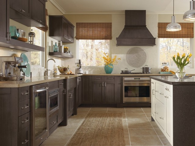 Kitchen Craft Cabinetry: Gray, Traditional Kitchen