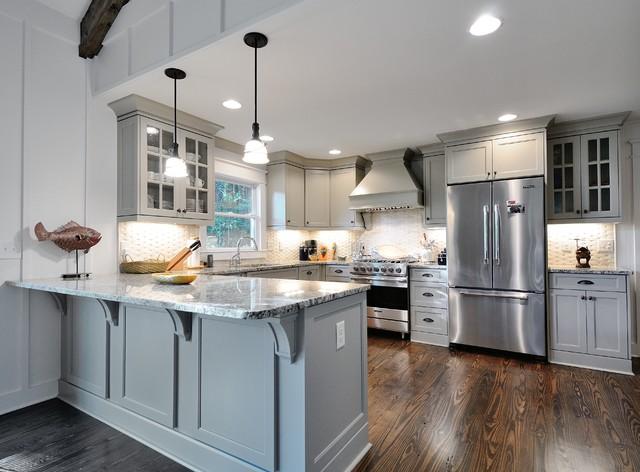 ... Supports Kitchen Island Trim Granite And Wood Floor Kitchen Craftsman