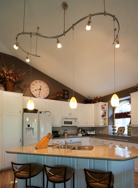track lighting vaulted ceiling. kitchen traditionalkitchen track lighting vaulted ceiling u