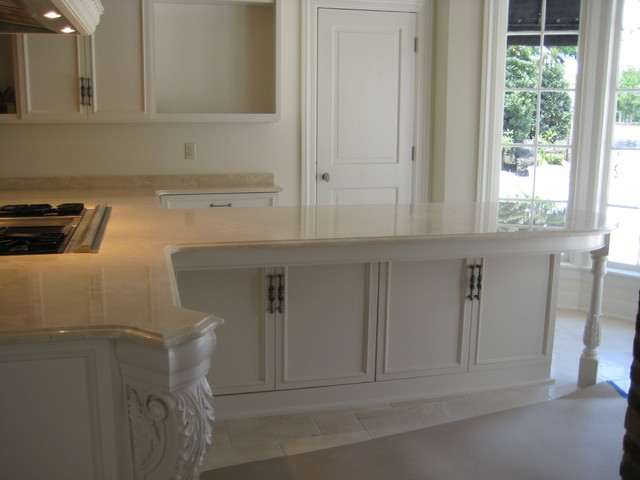 Kitchen Crema Marfil Marbletraditional New Orleans