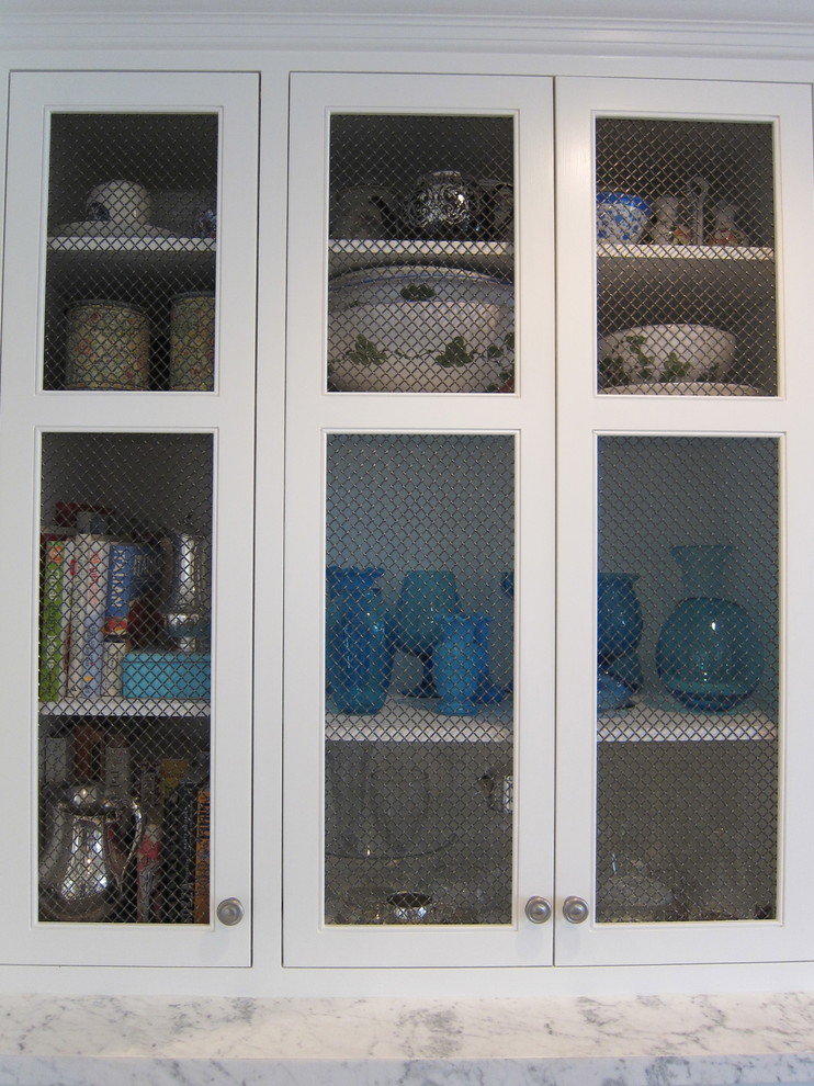 Kitchen Curio Cabinet With Screen Doors Traditional Kitchen Los Angeles By Abbott Moon