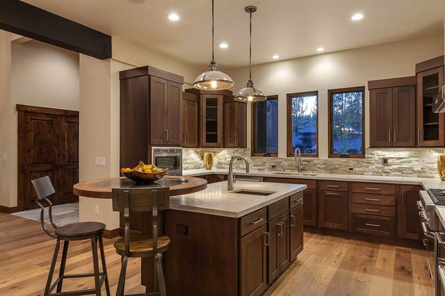 Kitchen Design Center Trailside Builders Greys Crossing Rustic Kitchen Sacramento By