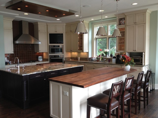 Kitchen design for new construction - transitional - kitchen