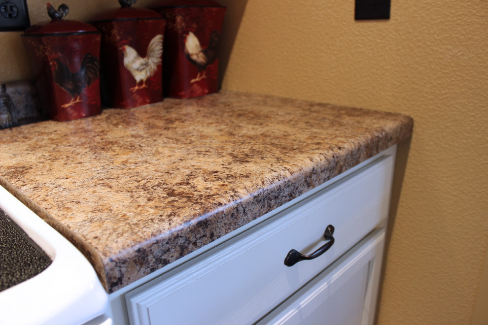 Kitchen Design: Mid Continent Cabinetry, Formica Butterum Granite-look  Counter - Traditional - Kitchen - Other - by Braun Building Center | Houzz