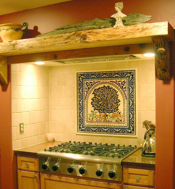 Image gallery kitchen tile murals for Backsplash mural tile