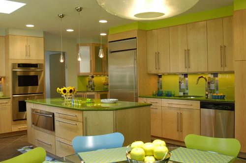 Warna Hijau Yang Termasuk Terang Ini Jika Dikombinasikan Dengan Baik Pada Dapur Ternyata Mampu Memberikan Sentuhan Berbeda Dalam