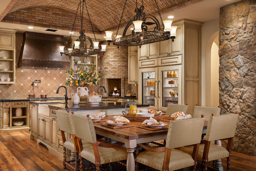 kitchen-dining-room-brick-stone-pizza-oven.jpg traditional-kitchen