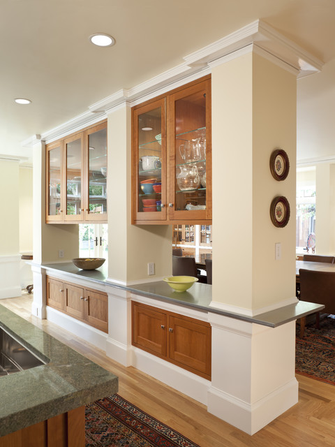 Kitchen Divider Cabinets Traditional