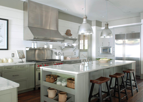 What is cabinet trim and clapboard colors thx for Traditional kitchen color schemes