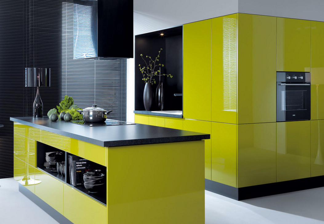 75 Beautiful Green Kitchen With Yellow Cabinets Pictures Ideas May 2021 Houzz
