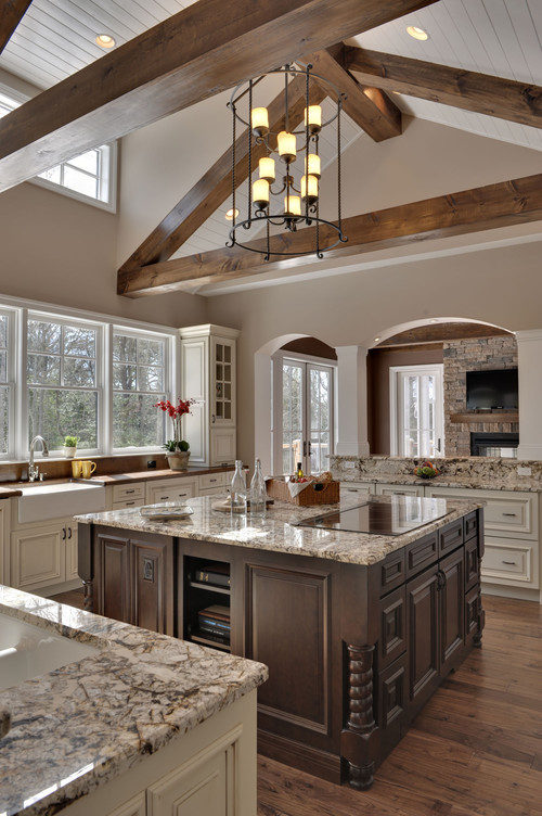 I love the beams and ceiling treatment is the ceiling - Painting wood beams on ceiling ...