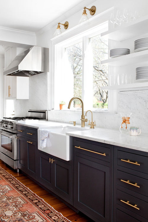 Brass Trends - Houzz Kitchen