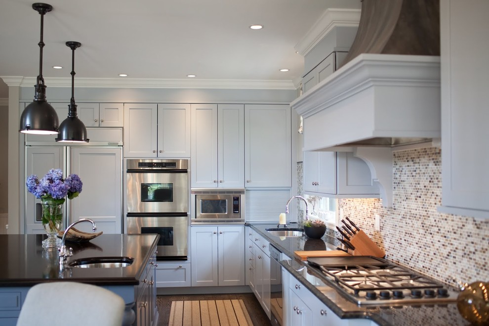 Example of a transitional kitchen design in Baltimore