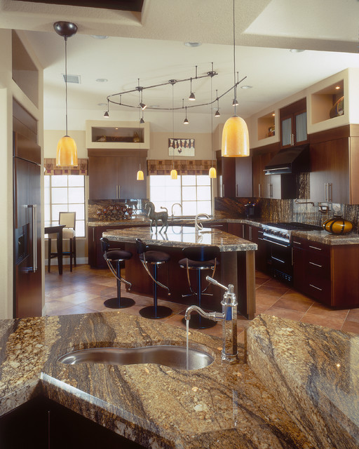 L Shaped Kitchen Designs With Island Kitchen Transitional: Kitchen Examples
