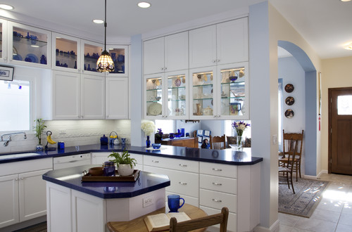traditional kitchen Color of the Month: Decorating with Cobalt