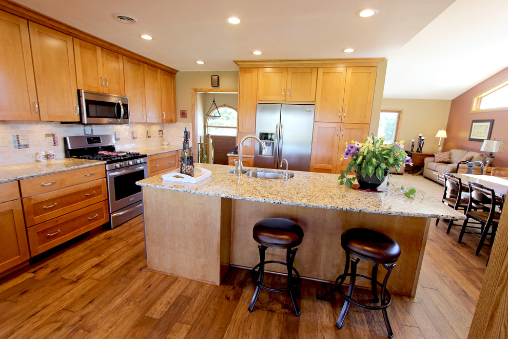 Kitchen Expansion with Maple Cabinets and Granite ... on Countertops That Go With Maple Cabinets  id=35813