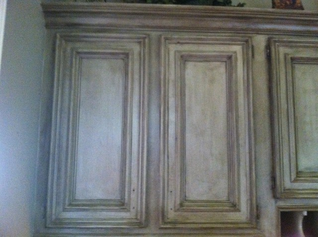 kitchen faux painted cabinets traditional kitchen - Faux Kitchen Cabinets