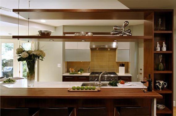 Modern Kitchen Shelves kitchen featuring flyover shelves - modern - kitchen - chicago