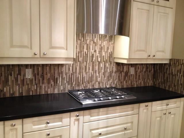 Kitchen Floor & Backsplash Installation transitional-kitchen
