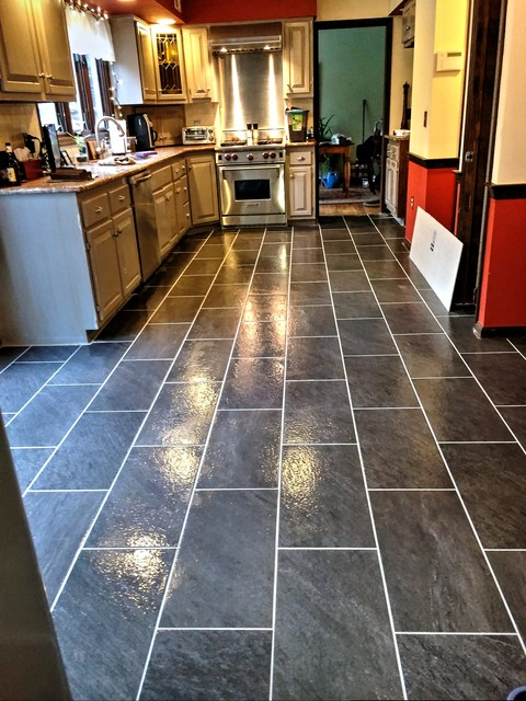 Beau KItchen Floor Tile Installation Vienna,VA Contemporary Kitchen
