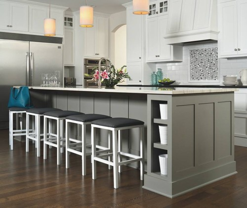 Hereu0027s Some Examples Of Kitchens That Have A Good Contrast Between The  Floor And The Stools:
