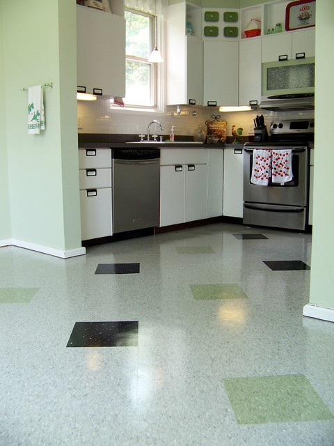 Kitchen flooring modern kitchen baltimore by for Modern tile kitchen floor