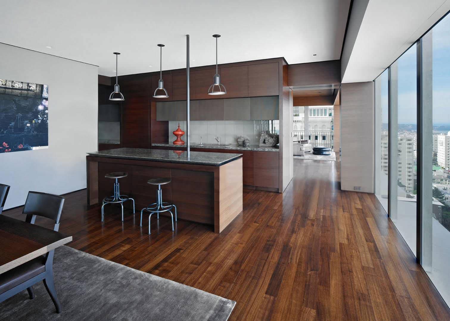 Kitchen Flooring - Walnut