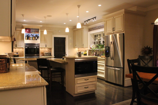 Kitchen, Foyer, Living Room and Fireplace kitchen