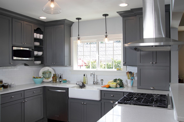 Kitchen Fun with Storm Gray - Transitional - Kitchen ...