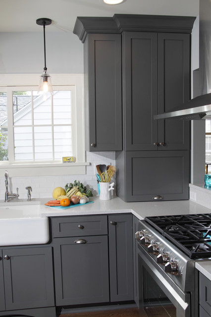 Kitchen Fun with Storm Gray - Transitional - Kitchen - Milwaukee ...
