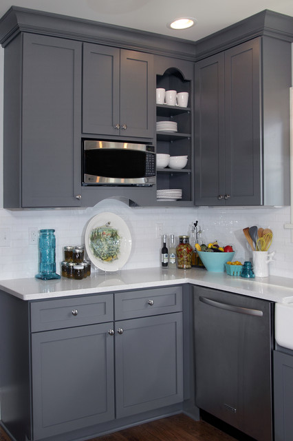 Kitchen Fun With Storm Gray Transitional Kitchen