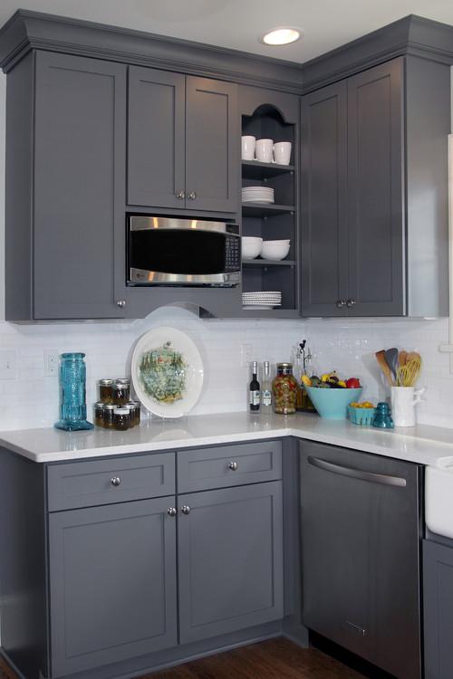 Classic Gray And White Dura Supreme Cabinetry