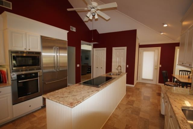 Kitchen Given an Earthy Red Color