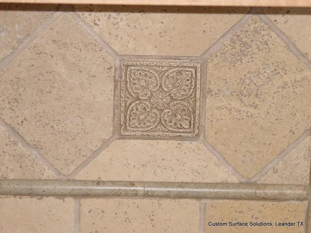 Kitchen   Granite Counter And Travertine Tile Backsplash Contemporary  Kitchen