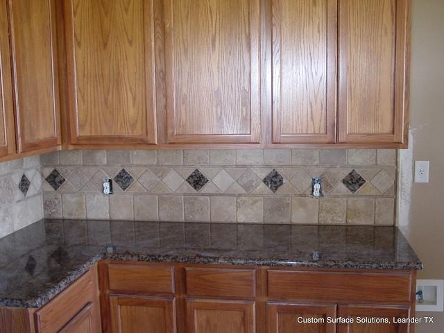 Kitchen Tiles Granite kitchen - granite counter noche travertine tile and granite tile