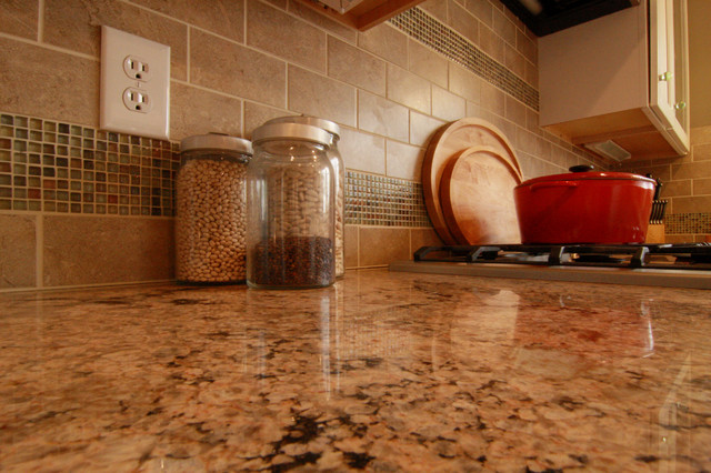 Kitchen Granite Counter Top and Tile Work traditional-kitchen
