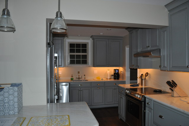 Kitchen - Grey Cabinets traditional-kitchen