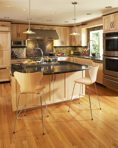 Are these natural maple cabinets?