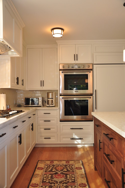 The double oven cabinet construction for Double kitchen cabinets